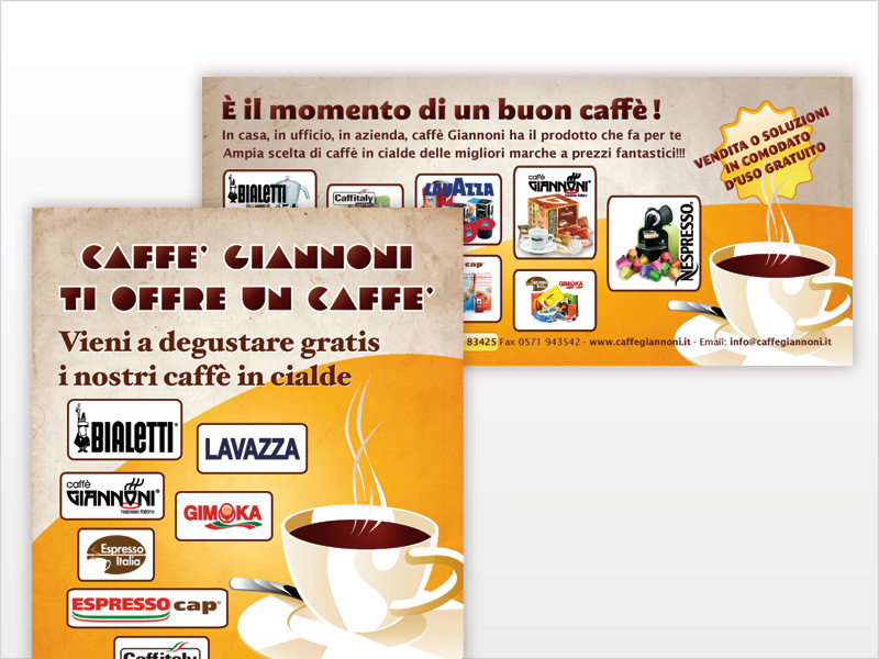 Advertising vendità cialde caffè
